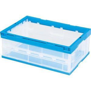 積水 折りたたみコンテナ OC−30L 側面透明(枠・底面青) OC30LCB 1個|ganbariya-shop