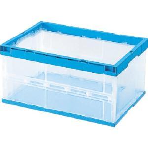 積水 折りたたみコンテナ OC−40L 側面透明(枠・底面青) OC40LCB 1個|ganbariya-shop