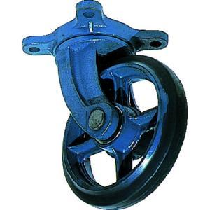 京町産業車輌(株) 京町 鋳物製自在金具付ゴム車輪150MM AJ-150 1個【107-4954】 ganbariya-shop
