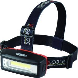 日動 充電式LEDヘッドライト SHL-3W-PIR-CH 1台|ganbariya-shop