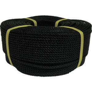 ユタカメイク ロープ PEロープ巻物 5φ×200m ブラック PE-94 1巻|ganbariya-shop
