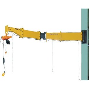スーパー ニ速型電動チェーンブロック付ジブクレーン ボルト・ナット型・柱取付式 JBCT2530HF 1台【別途運賃必要なためご連絡いたします。】|ganbariya-shop