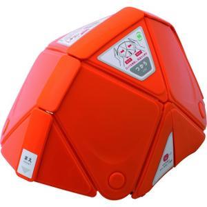 ミドリ安全 防災用折りたたみヘルメット フラットメット TSC−10 オレンジ TSC-10-OR 1個 ganbariya-shop