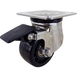 ユーエイ プレート式キャスター自在車S付65径強化ナイロン車輪 SUS-HG-65GNBS 1個|ganbariya-shop