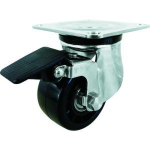 ユーエイ プレート式キャスター自在車S付75径強化ナイロン車輪 SUS-HG-75GNBS 1個|ganbariya-shop