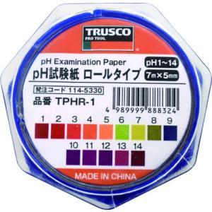 TRUSCO pH試験紙 ロールタイプ 7mm×5M Ph1〜14 TPHR-1 1袋|ganbariya-shop