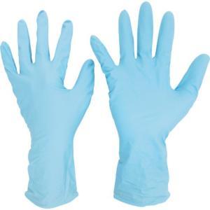 ミドリ安全 ニトリル使い捨て手袋 ロング 厚手 粉なし 青 L (50枚入) VERTE-766H-L 1箱|ganbariya-shop