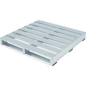 アルインコ アルミパレット PLT型 片面二方差し 1100X1100 オプション取付仕様 1台【別途運賃必要なためご連絡いたします。】|ganbariya-shop