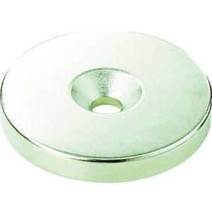 TRUSCO ネオジム丸径磁石 皿ネジ穴付 外径8mm×3mm M2 1個入り T08R03-M2 1個|ganbariya-shop
