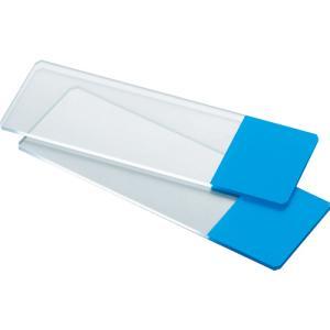 TRUSCO スライドガラス フロスト有 ブルー SG-FB 1箱|ganbariya-shop