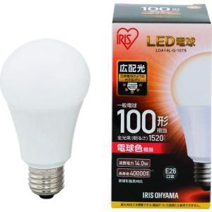IRIS LED電球 E26広配光タイプ 100形相当 電球色 1520lm LDA14L-G-10T5 1個|ganbariya-shop