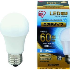IRIS LED電球 E26全方向タイプ 60形相当 昼白色 810lm LDA7N-G/W-6T5 1個|ganbariya-shop