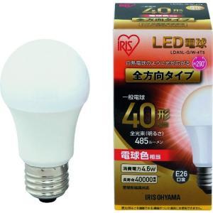 IRIS LED電球 E26全方向タイプ 40形相当 電球色 485lm LDA5L-G/W-4T5 1個|ganbariya-shop