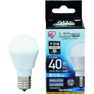 IRIS LED電球 E17直下 40形相当 昼白色 440lm LDA4N-H-E17-4T5 1個|ganbariya-shop