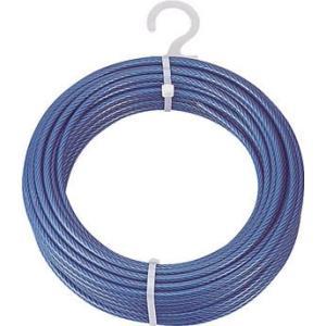 トラスコ中山(株) TRUSCO メッキ付ワイヤーロープ PVC被覆タイプ Φ2(3)mmX20m CWP-2S20 1巻【215-3998】|ganbariya-shop