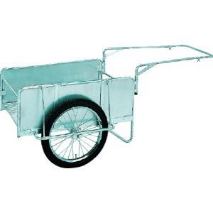 昭和 アルミ折畳みリヤカー 積載面(長さ×幅)1200×80mm ノーパンクタイヤ 1台【代引不可・メー直】【別途運賃必要なためご連絡します】 ganbariya-shop