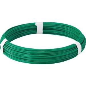 トラスコ中山(株) TRUSCO カラー針金 ビニール被覆タイプ グリーン 線径4.0mm TCW-40GN 1巻【282-5112】|ganbariya-shop