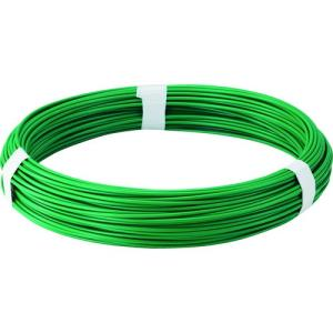 トラスコ中山(株) TRUSCO カラー針金 ビニール被覆タイプ グリーン 線径2.6mm TCW-26GN 1巻【282-5139】|ganbariya-shop