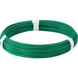トラスコ中山(株) TRUSCO カラー針金 ビニール被覆タイプ グリーン 線径1.6mm TCW-16GN 1巻【282-5155】|ganbariya-shop
