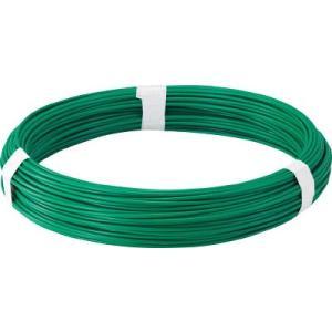 トラスコ中山(株) TRUSCO カラー針金 ビニール被覆タイプ グリーン 線径1.2mm TCW-12GN 1巻【282-5163】|ganbariya-shop