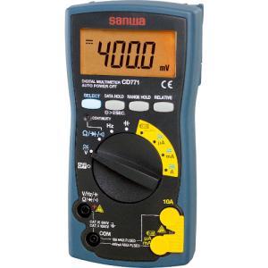 三和電気計器(株) SANWA デジタルマルチメータ バックライト搭載 CD771 1個【326-0879】|ganbariya-shop