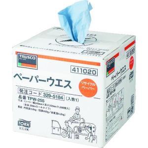 トラスコ中山(株) TRUSCO ペーパーウエス 235mmX255m ポップアップタイプ TPW-255 1箱(1巻入)【329-5184】|ganbariya-shop