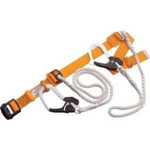【廃番】(株)トーヨーセフテイー トーヨーセフティ 一本吊りWランヤード付安全帯(Wロープ)黄 GH-555CW-Y 1本|ganbariya-shop
