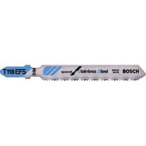ボッシュ(株) ボッシュ ジグソーブレード 金工用パウダーメタルハイス 5本入り T-118EFS 1PK(5枚入)【351-9775】|ganbariya-shop