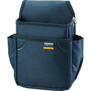 トラスコ中山(株) TRUSCO 小型腰袋 二段 ブラック TC-51BK 1個【352-4591】|ganbariya-shop