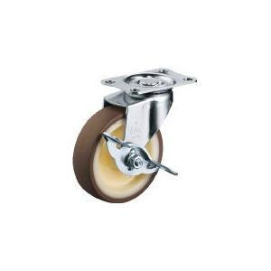 ハンマーキャスター(株) ハンマー Eシリーズ自在ブレーキ付ウレタン車100mm 415E-UR100-BAR01 1個【367-0767】|ganbariya-shop