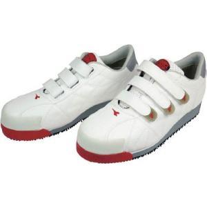 ドンケル(株) ディアドラ DIADORA 安全作業靴 アイビス 白 24.5cm IB11-245 1足 ganbariya-shop