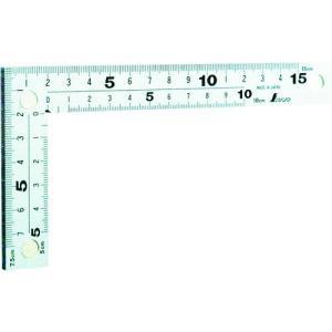 シンワ測定(株) シンワ 曲尺 厚手広巾シルバー15cm 表裏同目マグネット付 10435 1本【411-1028】|ganbariya-shop