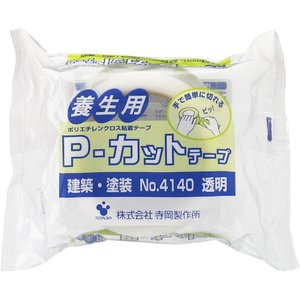 (株)寺岡製作所 TERAOKA P−カットテープ NO.4140 透明 50mmX25M 4140 1巻|ganbariya-shop