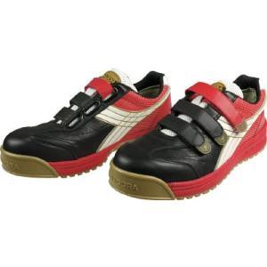 ドンケル(株) ディアドラ DIADORA 安全作業靴 ロビン 黒/白/赤 24.0cm RB213-240 1足 ganbariya-shop