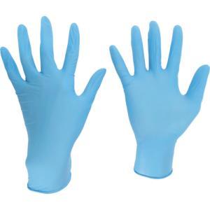 ミドリ安全(株) ミドリ安全 ニトリル使い捨て手袋 極薄 粉なし 100枚入 青 M VERTE-710-M 1箱(100枚入)|ganbariya-shop