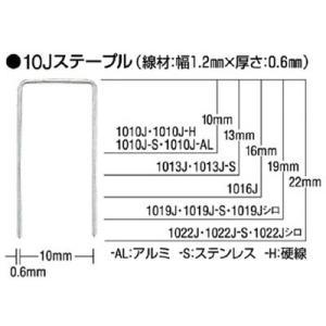 マックス(株) MAX ステープル(白) 肩幅10mm 長さ19mm 5000本入り 1019J-WHITE 1箱(5000本入)|ganbariya-shop