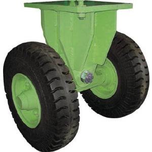 佐野車輌 超重量級キャスター ダブル固定車 荷重3000kgタイプ 286-3 1個【代引不可】【別途運賃必要なためご連絡いたします。】|ganbariya-shop