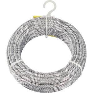 トラスコ中山(株) TRUSCO メッキ付ワイヤロープ Φ5mmX10m CWM-5S10 1本【489-0990】|ganbariya-shop