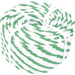 トラスコ中山(株) TRUSCO 標識ロープ 3つ打 7.5mm×50m 白・緑 R-950WGN 1巻|ganbariya-shop