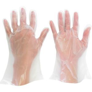 ミドリ安全(株) ミドリ安全 ポリエチレン使い捨て手袋 厚手 外エンボス 200枚入 S VERTE-565N-S 1箱(200枚入)|ganbariya-shop