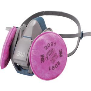 スリーエム ジャパン(株) 3M 取替式防じんマスク 6500QL/2091−RL3 Mサイズ 6500QL/2091-RL3M 1個|ganbariya-shop