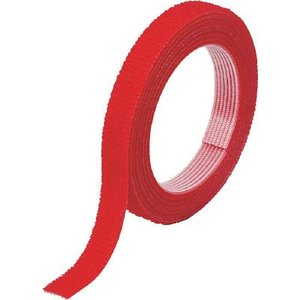 トラスコ中山(株) TRUSCO マジックバンド]結束テープ 両面 幅10mmX長さ5m赤 MKT-10V-R 1巻【754-1848】|ganbariya-shop