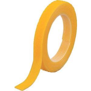 トラスコ中山(株) TRUSCO マジックバンド]結束テープ 両面 幅10mmX長さ5m黄 MKT-10V-Y 1巻【754-1864】|ganbariya-shop