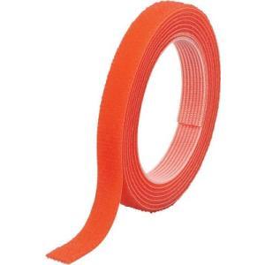 トラスコ中山(株) TRUSCO マジックバンド]結束テープ両面幅10mm長さ30mオレンジ MKT-10W-OR 1巻【754-1996】|ganbariya-shop
