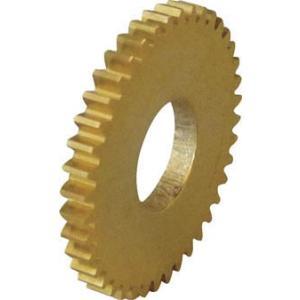 協育歯車工業(株) KG 平歯車 モジュール0.5 黄銅 A1形 S50B50A-M-0208 1個【756-5160】|ganbariya-shop