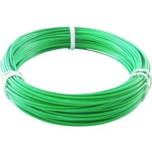 トラスコ中山(株) TRUSCO カラー針金 ビニール被覆タイプ 2.0mmX25m 緑 TCWM-20GN 1巻【759-2582】|ganbariya-shop