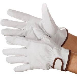(株)シモン シモン 豚本革手袋マジック式717豚白M 4133981 1双【789-5089】|ganbariya-shop