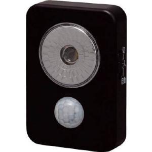 【特長】●人の動きを感知して自動的に点灯する人感センサー付の乾電池式LED屋内センサーライトハンディ...