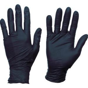 トラスコ中山(株) TRUSCO 使い捨てニトリル手袋TGスタンダード 0.08粉無黒L 100枚 TGNN08BKL 1箱|ganbariya-shop