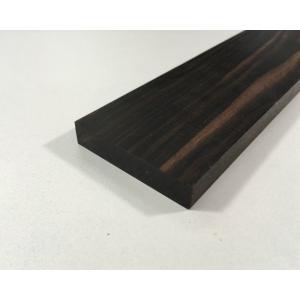 【DIY・クラフト用木材】縞黒檀(しまこくたん) 平板 端材 幅約30mmx長さ約560mmx厚み約12mm 1本【サイズ・色等の商品選択は不可】|ganbariya-shop
